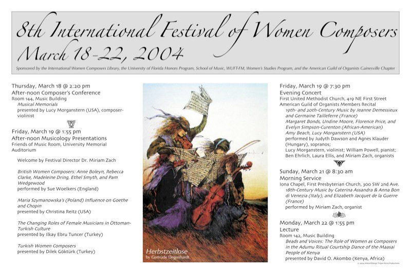 18th International Festival of Women Composers